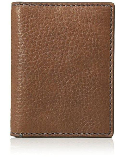 Fossil - Brown Card Case Wallet - Lyst