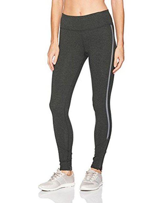 CALVIN KLEIN 205W39NYC - Black Performance Reflective Stripe Full Length Legging With Bottom Zipper - Lyst