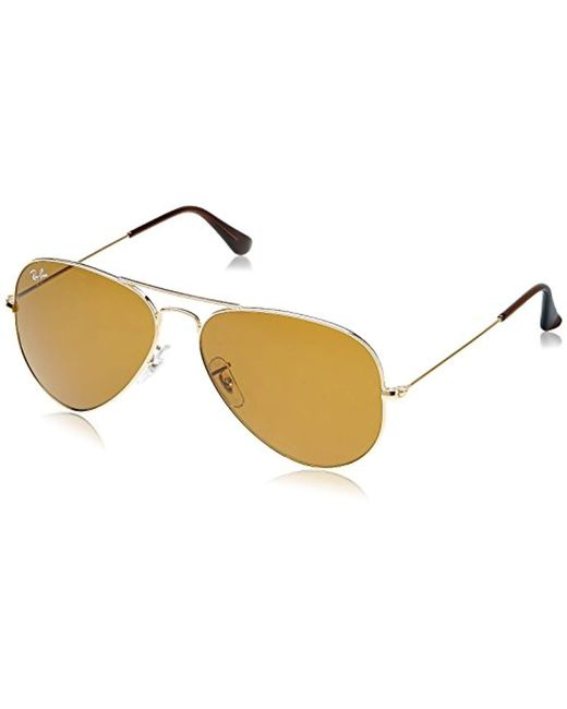 71f4380a5afd9 Ray-Ban - Metallic Rayban Aviator With Gold Mirror Lense And Gold Frame  Unisex Adult ...