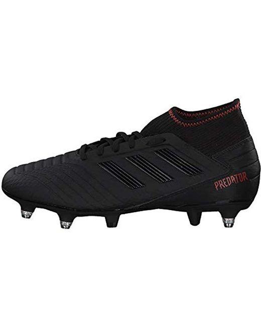 big sale c5147 ffb2e ... Adidas - Black Predator 19.3 Sg Football Boots for Men - Lyst ...