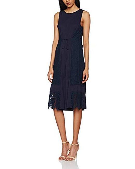 Great Plains - Blue Lorenzo Lace Mix Sleeveless Dress - Lyst