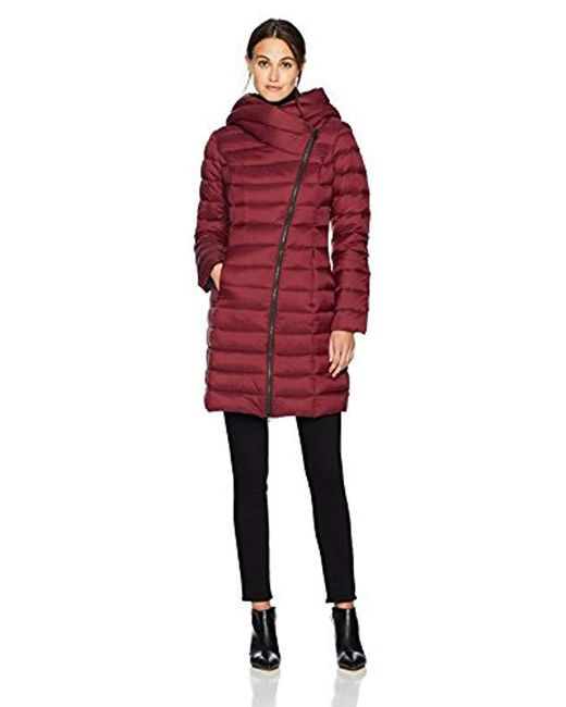SOIA & KYO - Red Karelle Lightweight Down Coat - Lyst
