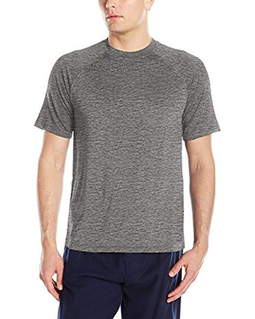 Izod - Gray Sueded Jersey Flame Heather Shirt for Men - Lyst