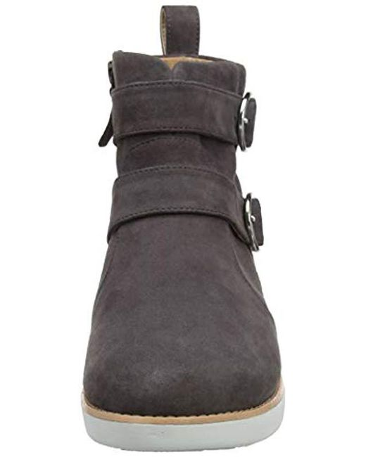 7aa4bcc16027 ... Lyst Fitflop - Gray  s Oona Buckle Ankle Boots ...