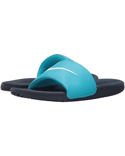 223686be076e Nike Kawa Slide Sandal in Blue - Save 7% - Lyst
