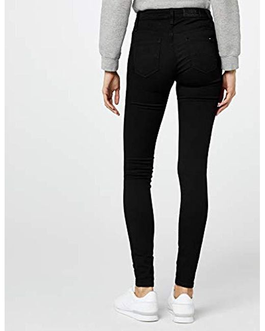 e3dc91ac ... Tommy Hilfiger - Black High Rise Santana Skinny Jeans - Lyst ...