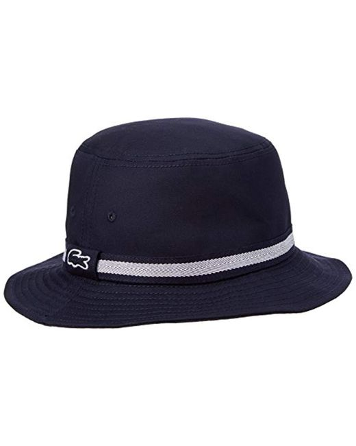 Lacoste - Blue S 2018 Crocodile Sewn On Bucket Hat for Men - Lyst ... 36331e4c754