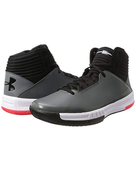 finest selection 71eb2 8c3cf ... Under Armour - Black Ua Lockdown 2 Basketball Shoes for Men - Lyst ...