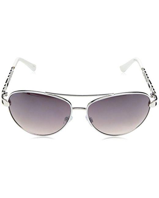 ea40c951825 ... Sam Edelman - Multicolor Rocawear R566 Slvwh Aviator Sunglasses - Lyst  ...