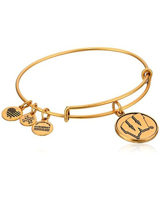 ALEX AND ANI - Metallic University Of Wisconsin Rafaelian Bangle Bracelet - Lyst