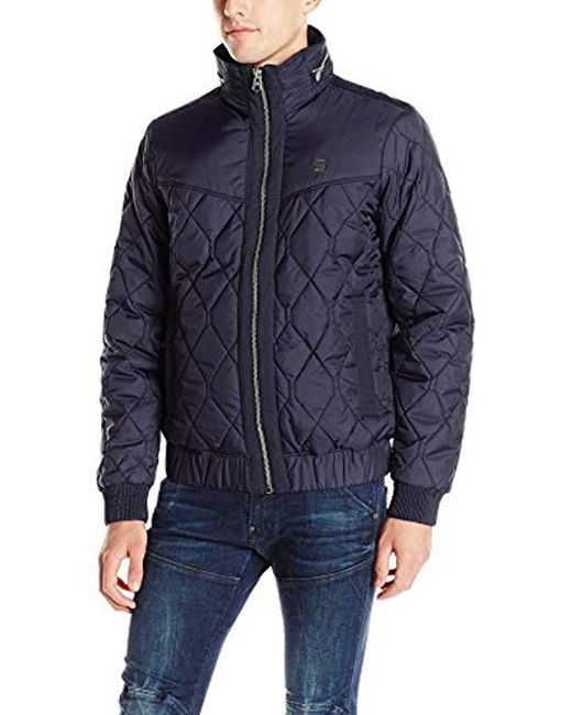 G-Star RAW - Blue Meefic Utility Quilted Jacket for Men - Lyst
