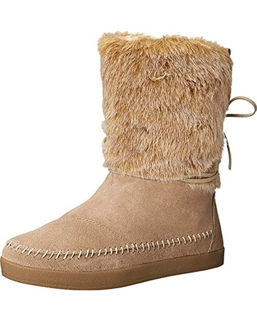 TOMS Brown Suede Jacquard Nepal Boots