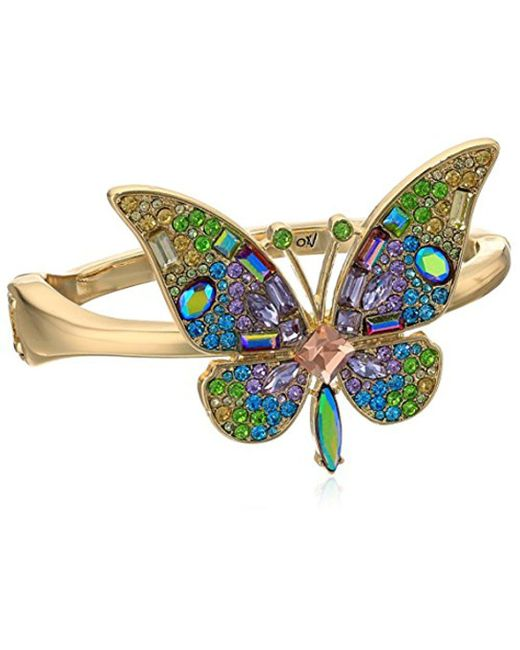Betsey Johnson - Multicolor S Blooming Betsey Butterfly Statement Bracelet, Multi, One Size - Lyst