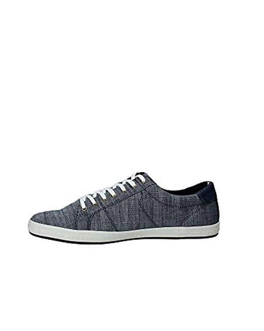190d710ef531 ... Tommy Hilfiger - Blue  s Essential Pique Denim Sneaker Low-top for Men  ...