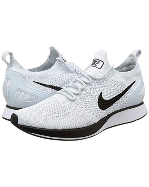 6d1aab2fa41b1 ... Lyst Nike - White  s Air Zoom Mariah Flyknit Racer Gymnastics Shoes for  Men ...