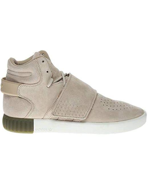 official photos 86dd5 132da ... Adidas Originals - Brown Tubular Invader Strap W Fashion Sneaker - Lyst  ...