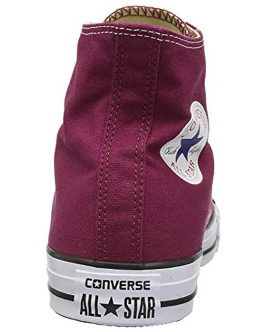 b941025fea15 ... Converse - Red Unisex Adults  Chuck Taylor All Star Hi Low-top Sneakers  ...