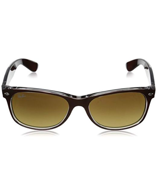 995fbb24e4786 Ray-Ban Rb2132 New Wayfarer Sunglasses in Brown for Men - Save 28 ...