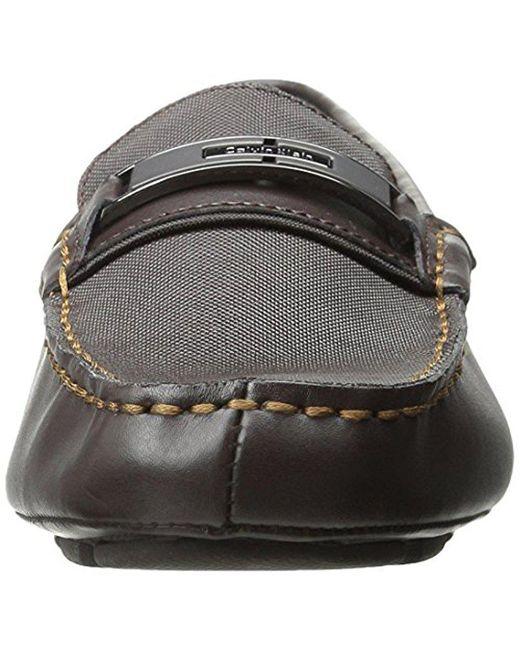 Calvin Klein Men's McHale Diamond Leather Slip-On Loafer Xumsyevd