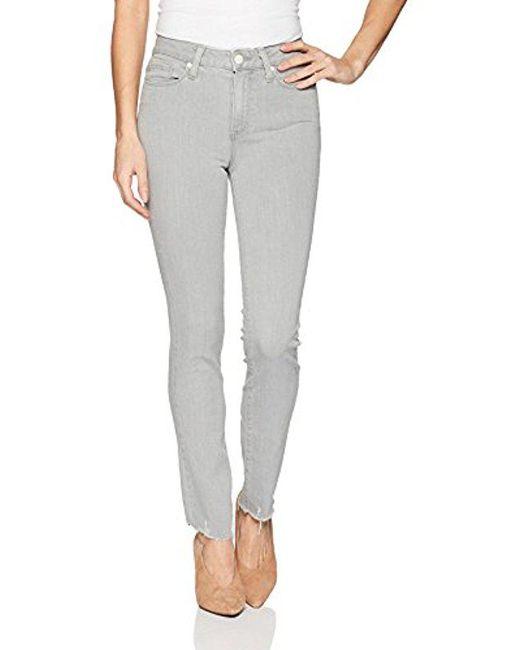 PAIGE - Gray Hoxton Ankle Peg Jeans - Lyst