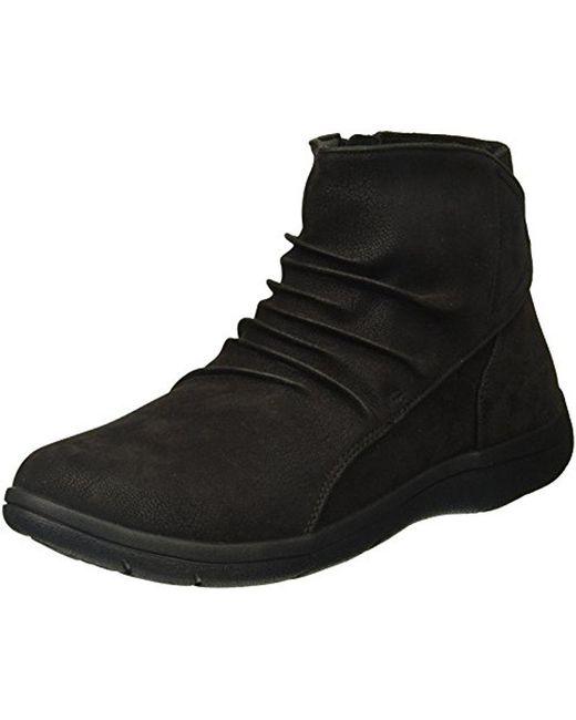 Skechers - Black Lite Step-tricky Ankle Bootie - Lyst