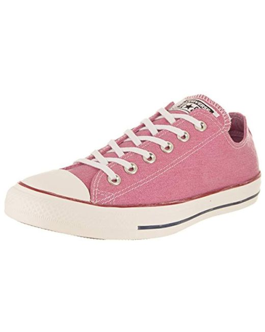 5eaaacd5e70 Converse - Pink Chuck Taylor All Star Low Top - Lyst ...