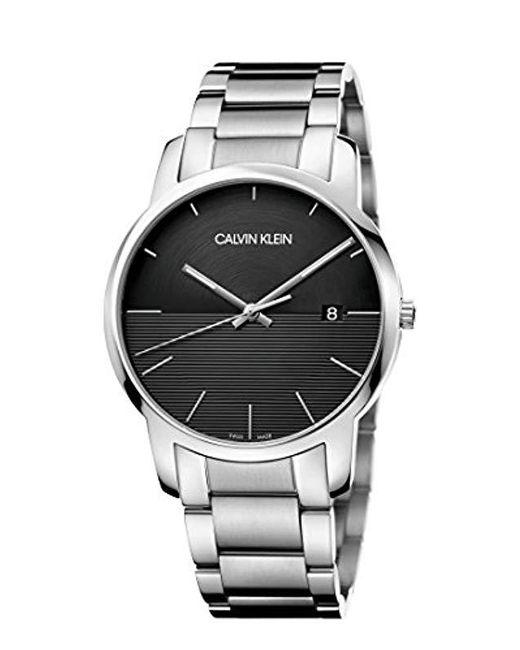 28a86a011055 Calvin Klein - Multicolor Reloj Analógico para Hombre de Cuarzo con Correa  en Acero Inoxidable K2G2G14C ...