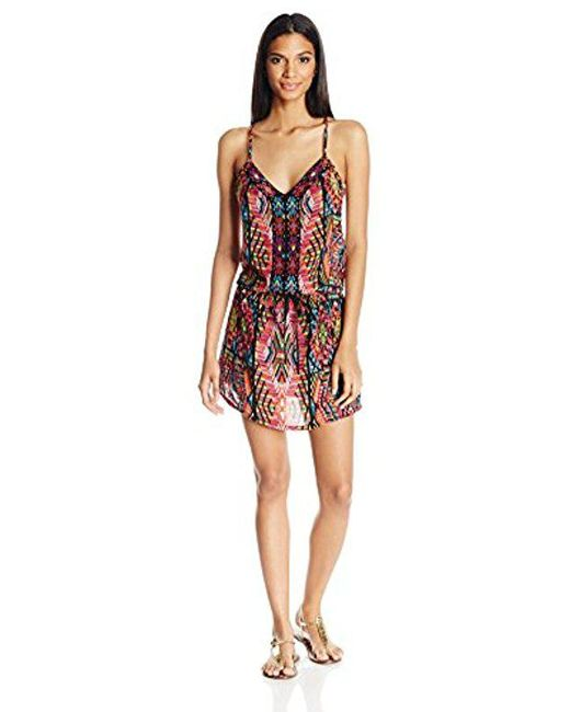 Nanette Lepore - Multicolor Mayan Mosaic Short Dress Cover Up - Lyst