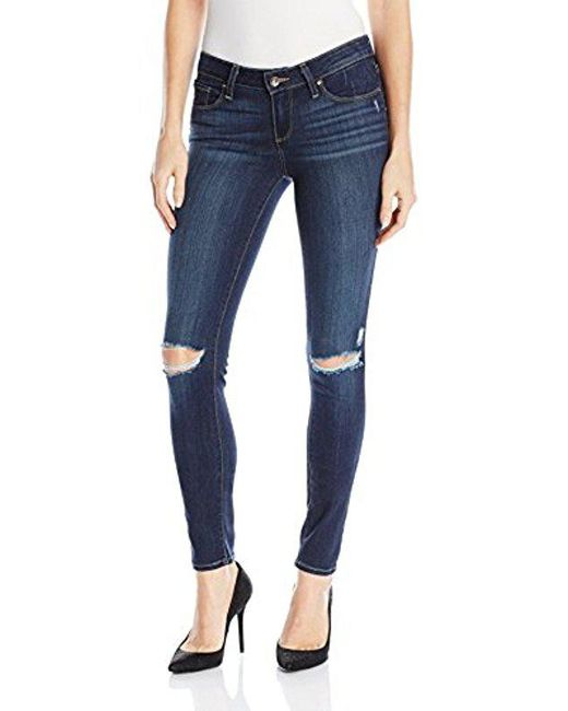 PAIGE - Blue Verdugo Ultra Skinny Jeans-aveline Destructed - Lyst