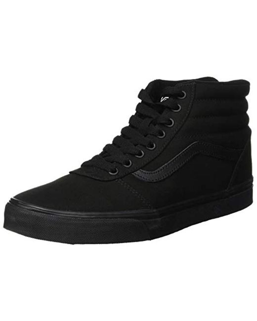 ddcaec0ed83 Vans - Black Ward Canvas Hi-top Trainers for Men - Lyst ...