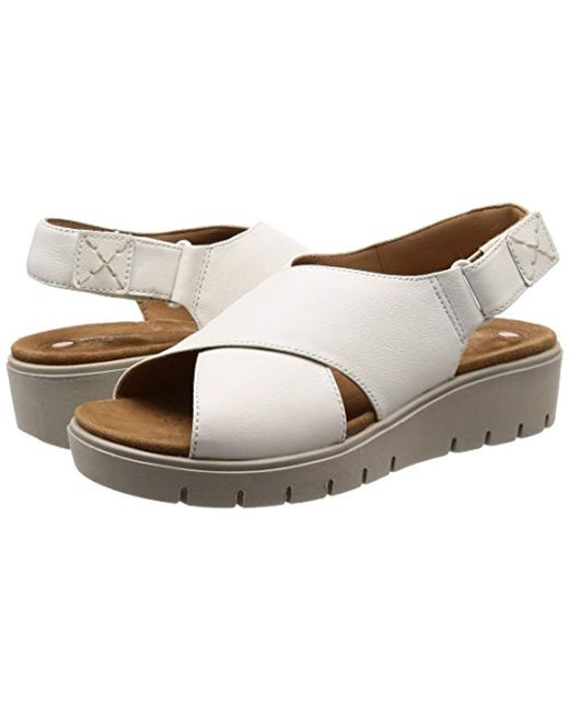e9ef76799d3932 Clarks  s Un Karely Hail Sling Back Sandals in White - Lyst