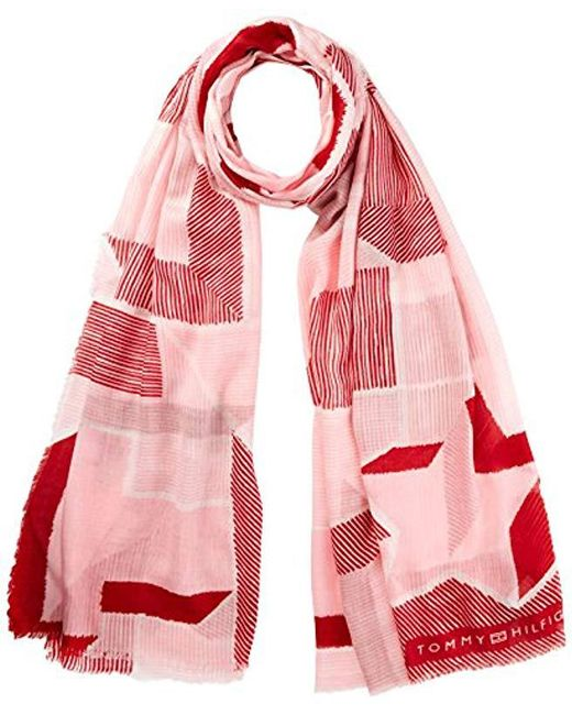 Tommy Hilfiger - Texture Scarf (pink Mix 902), One (size: Os) - Lyst