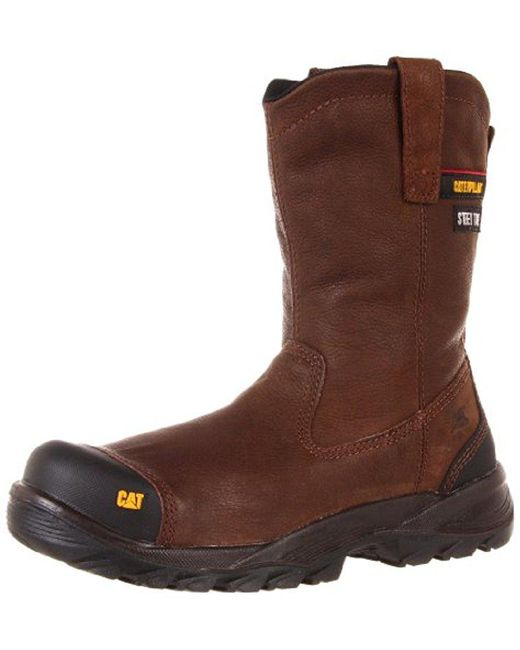Caterpillar - Brown Spur Steel Toe Work Boot for Men - Lyst
