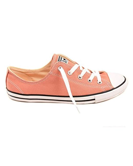 78717a20e5e0ad Converse - Pink Chuck Taylor All Star Dainty Ox Trainers - Lyst ...