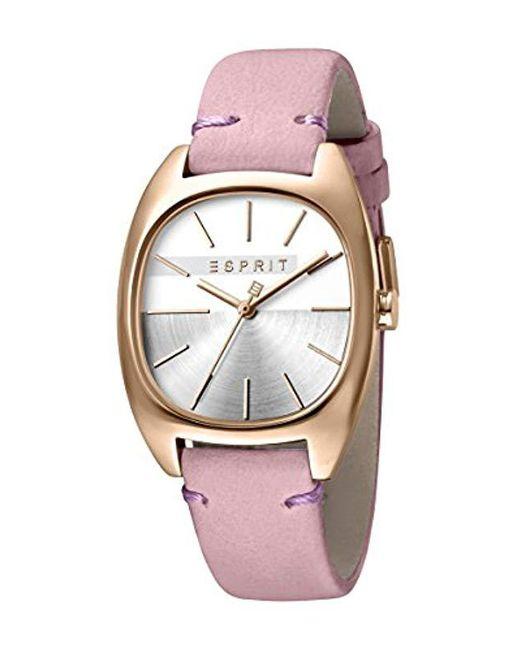 216f4fa782c8 Esprit - Pink Reloj Analógico para Mujer de Cuarzo con Correa en Cuero  ES1L038L0065 - Lyst ...