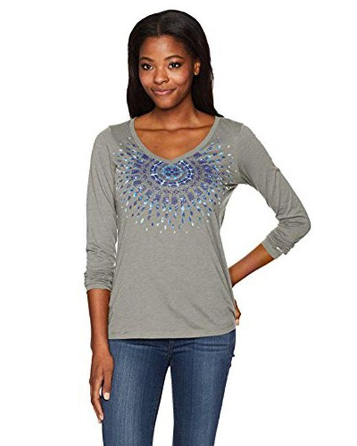 Columbia - Gray Radiation Road Long Sleeve Tee - Lyst