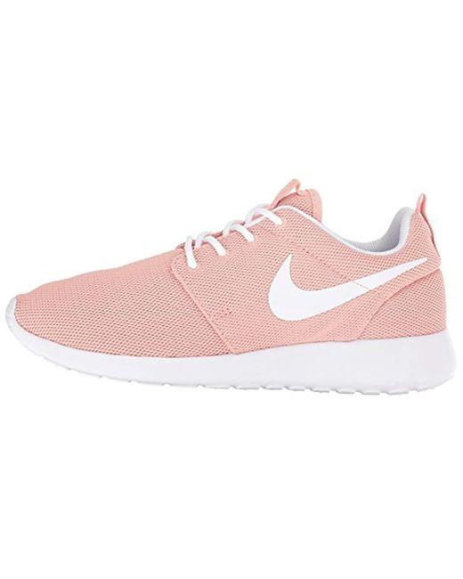 Details about Wmns Nike Roshe One Rosherun Blue Barely Rose Pink Women Running Shoe 844994 405