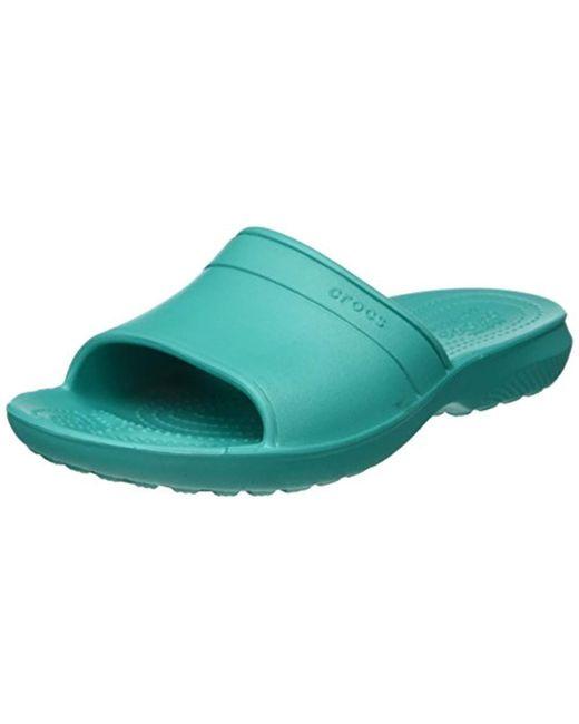 7af36ec3687d Crocs™ - Blue Unisex Adults Classic Slide Sandals - Lyst ...