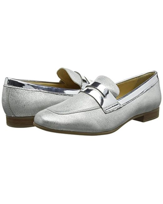 Geox  s D Marlyna B Loafers in Metallic - Lyst 6796ef0b3469