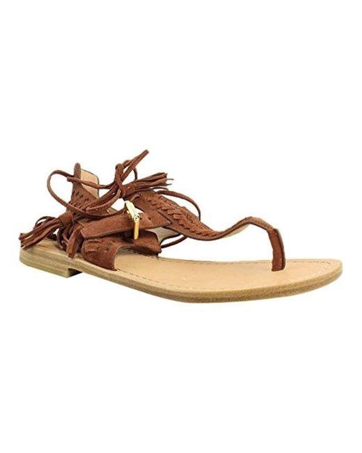 Sigerson Morrison - Brown Alysa Flat Sandal - Lyst