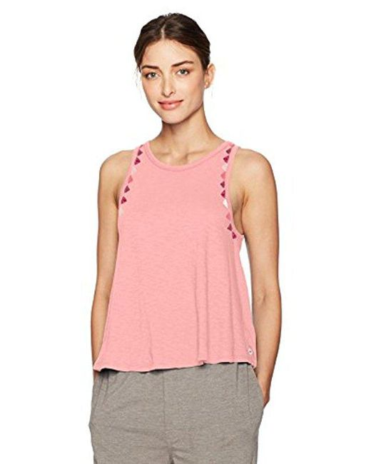Lucky Brand - Pink Embroidered Sleep Tank - Lyst