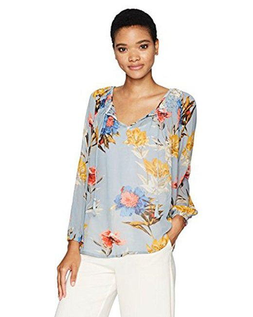 Lucky Brand - Blue Tucked Peasant - Lyst
