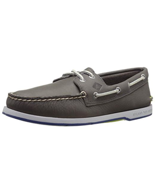 Sperry Top-Sider - Gray Captain's A/o 2-eye Boat Shoe for Men - Lyst