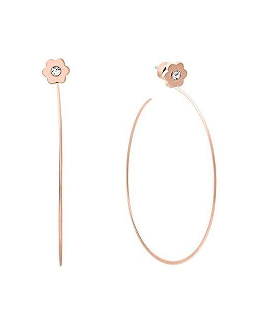 Michael Kors - Metallic S In Full Bloom Floral Stud Hoop Earrings - Lyst