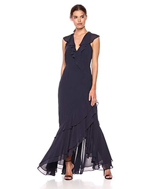 C/meo Collective - Blue Be About You Sleeveless V Neck Ruffle Hem Maxi Dress - Lyst