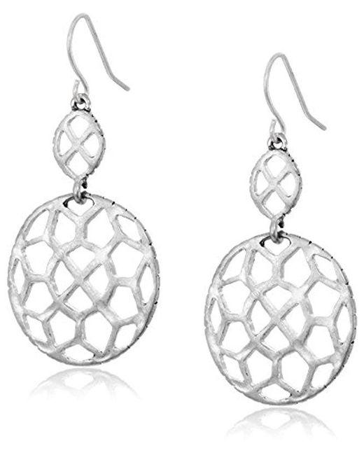 The Sak - Metallic Pierced Double Drop Earrings - Lyst