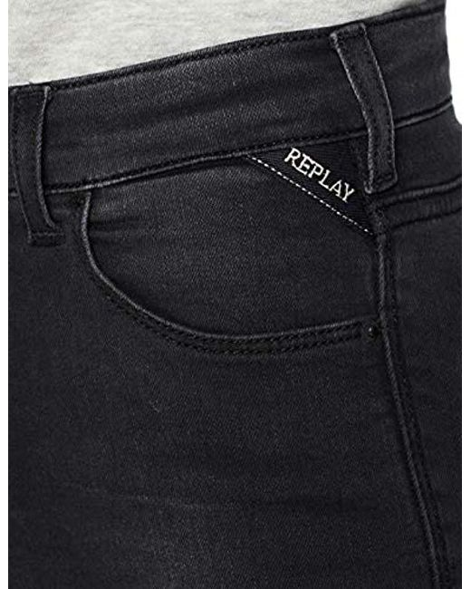 4df96327cc1 In Replay Black 's Jeans Ankle Zip Lyst Skinny Stella 4YT4qrC