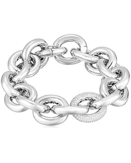 Eddie Borgo - Metallic One Pave Link Chain Link Bracelet - Lyst