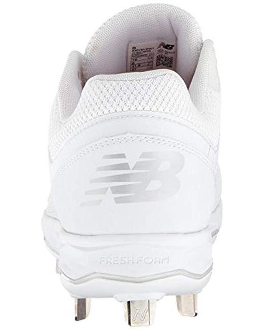 107ef7dfe ... New Balance - White Velo V1 Metal Softball Shoe - Lyst ...