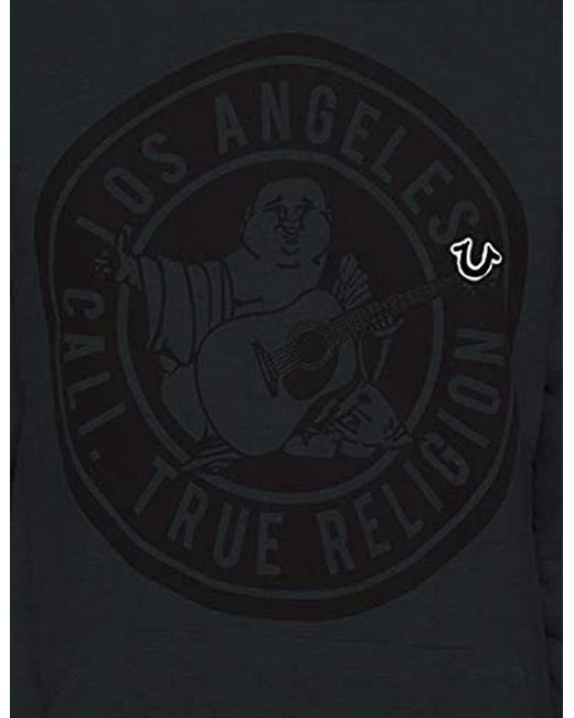 True Religion Mens Metallic Buddha Hoodie1 Msmbw4c067